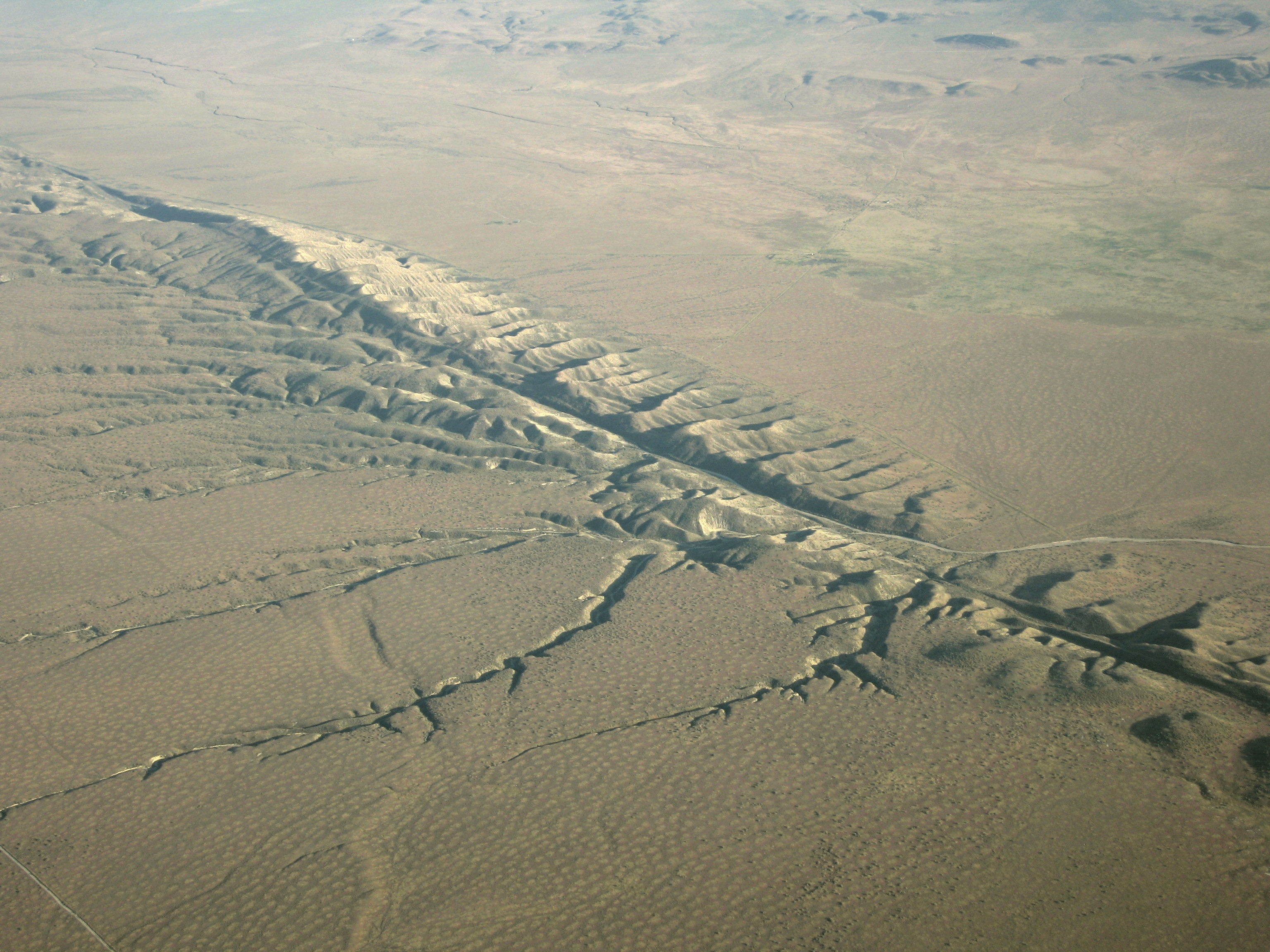 Pictures of the San Andreas Fault and its land forms