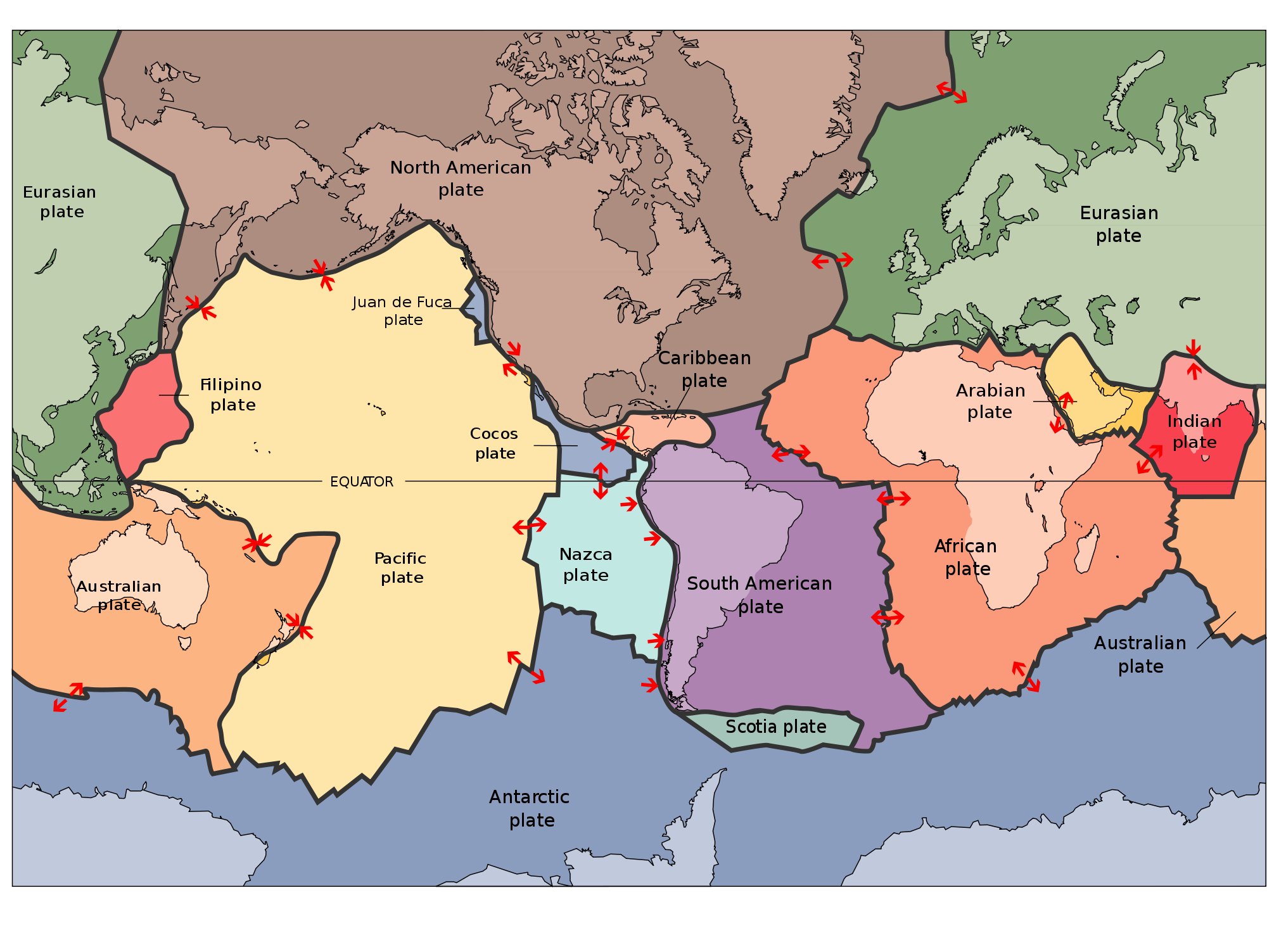 Plate Tectonics Continental Drift Spreading Centers Subduction Zones